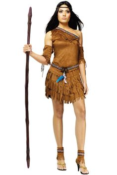Brand New Pow Wow Pocahontas Native American Indian Adult Halloween Costume  sc 1 st  Pinterest : costume for adults ideas  - Germanpascual.Com