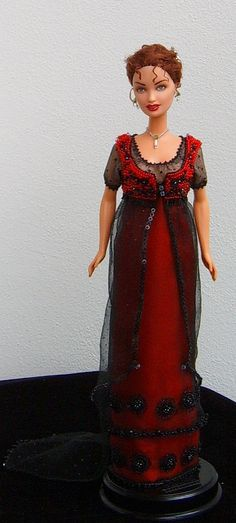 OOAK Rose Titanic doll - jump dress for Barbie  free sewing pattern