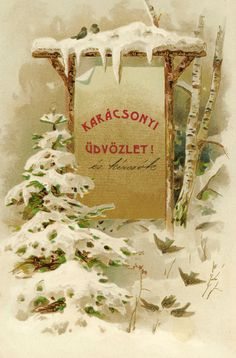 Christmas Postcard from Hungary 1901 dec 23.
