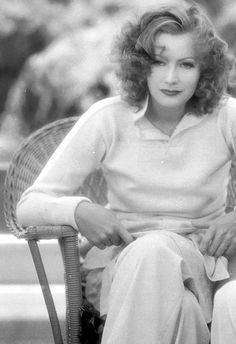 """Greta Garbo, filming """"Wild Orchids"""" 1929, an early sound film with full orchestra and sound effects"""
