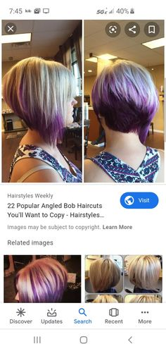 Port Jefferson, Angled Bob Haircuts, Hair Cuts, Popular, Hair Styles, Haircuts, Hair Plait Styles, Hair Makeup, Popular Pins