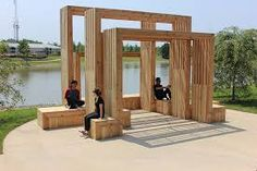 A Daily Dose of Architecture: Gathering Pavilion Pavilion Architecture, Landscape Architecture Design, Contemporary Architecture, Sustainable Architecture, Residential Architecture, Temporary Structures, Landscape Structure, Shade Structure, Urban Furniture
