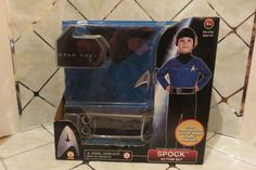 Star Trek Child Boy's SPOCK Size 4-6 Costume Starfleet Badge Spock Headpiece NEW…