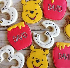 """""""Sometimes the smallest things take up the most room in your heart."""" Wise words from Pooh [Custom Pooh Bear and Honey Pot Cookie Cutters DM to inquire!] @sarahscustomcookies another custom tool super user #cookiecutterkingdom by cookiecutterkingdom"""