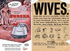More Vintage Sexism holiday ads.
