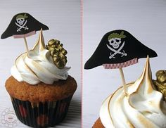 pode ser chapeu de pirata para colocar em cima dos doces ou salgados