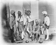 A group of Sikh sappers (combat engineers) of the Indian Army during Indian Mutiny of 1857