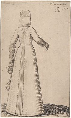 A Woman from Altmark (Germany) - Melchior Lorck (Danish) - 1570