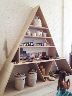 Shelves don't have to be boring! Go geometric  General Store: A New Gem in Venice
