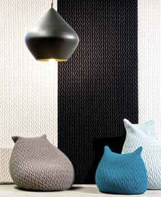 Textile With Good Acoustic Isolation in Interior Textiles Acoustic Wall, Acoustic Panels, Sound Room, Creative Textiles, Pouf Ottoman, Wall Treatments, Cool Items, Modern Rugs, Contemporary Interior