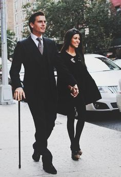 I'm on board with everything except the cane, I mean, why? He looks good here though. Well done Scott & Kourtney, a dapper couple