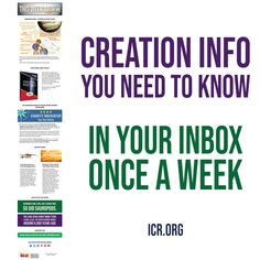 Creation info you need to know. In your inbox once a week. Sign up here: Science Resources, Popular Books, Need To Know, Sign, Signs, Board