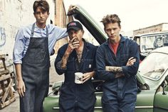 Laidback Mechanic Lookbooks - The Lee 101 Spring/Summer 2013 Collection is Blue Collar (GALLERY)