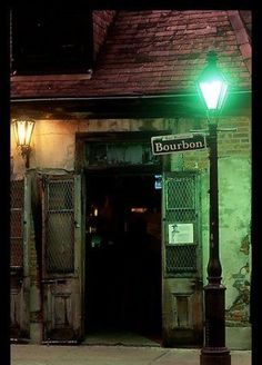 Outside a real New Orleans Vampire Club that opens at Midnight and closes at 6 AM.