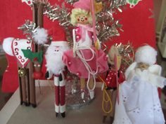 Christmas Cast of Characters - Santa, Rudolph, Angel, and a Rodeo Pair - DIY Clothespin Kids!