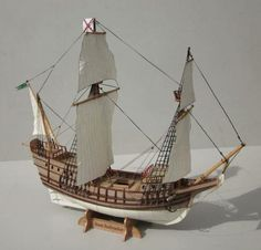 San Salvador Galleon Paper Model - by Maritime Museum Of San Diego --          The Maritime Museum of San Diego is building a full-sized, fully functional, and historically accurate replica of Juan Rodriguez Cabrillo's flagship, San Salvador. To celebrate and promote this achievement, the museum generously gifts us with a free paper model replica of the San Salvador, in 1/100 scale. This model took a long time to be drawn, due to its complexity, moreover, several setbacks have...