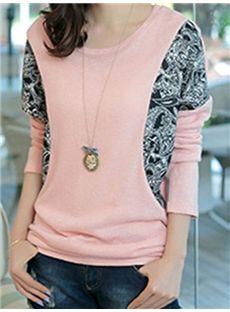 Long Sleeve Round Collar Shirt