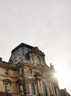The louvre as the sunrises #Paris   lark&linen