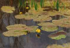 Bruno Liljefors- Yellow water lilies