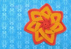 Another Crocheted Floral Hot Pad: The Third Time Is The Charm!