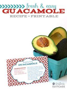 My Sisters Suitcase: Fresh & Easy Guacamole Recipe + Cinco De Mayo Printables!