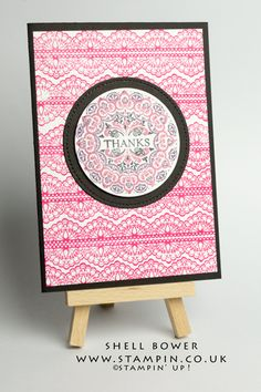Shell Bower Independent Stampin' Up! Demo. Delicate Details