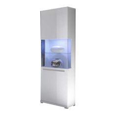 KILO White metal side table | Cd storage, Storage and Shelving