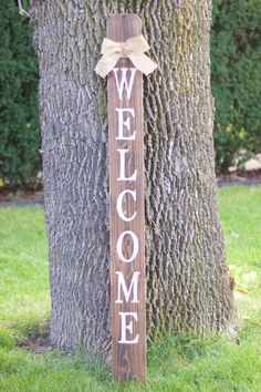 WELCOME Front Porch Wooden Sign Welcome Sign by EmeraldMarket