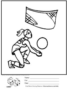 Olympic Volleyball coloring page