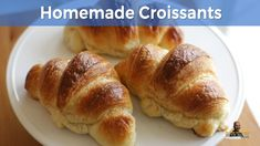 How to Make Croissants | Homemade Croissant Recipe | Short Version - YouTube Croissant Dough, Croissant Recipe, Homemade Croissants, Egg Wash, Recipe Steps, Cooking Videos, Dry Yeast, Healthy Life, Bread