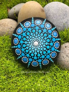 Your place to buy and sell all things handmade Mandala Painted Rocks, Mandala Rocks, Mandala Painting, Dot Painting, Mandala Pattern, Zentangle Patterns, Beautiful Rocks, Paper Weights, Ontario