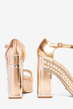 Nasty Gal x Kat Maconie Cherry Patent Leather Platform - Shoes | Open Toe | Heels