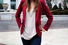 red blazer style