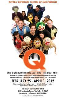 Mar 2 - Watched Ave. Q at the Simi Valley Cultural Arts Center