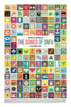 The Songs of SNFU: An Illustrated History by Nigel Hood, via Behance
