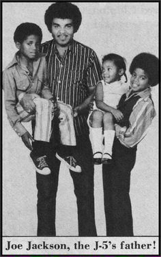 "Joe Jackson holding son Randy Jackson, and the future ""King of Pop"" Michael Jackson holding his sister Janet Jackson. Randy Jackson, Young Michael Jackson, The Jackson Five, Jackson Family, Paris Jackson, Lisa Marie Presley, Elvis Presley, Familia Jackson, Indiana"