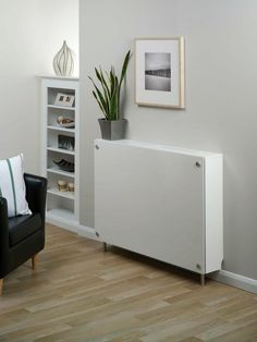 Winther Browne RD32650 Cavalli White Large Radiator Cabinet Radiator Cover
