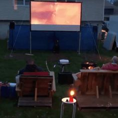 【Hot Sales 50% OFF!】Portable Giant Outdoor Movie Screen – beyondkrafty Projector Screens, Outdoor Projector, Backyard Movie Nights, Outdoor Movie Nights, Neighborhood Party, Outdoor Movie Screen, Light Scattering, Party Outdoor