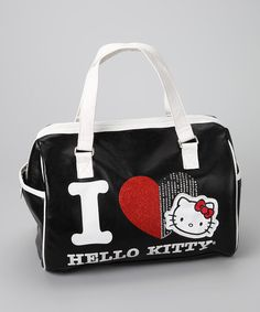 Take a look at this Hello Kitty Black Heart Satchel by Hello Kitty on #zulily today!