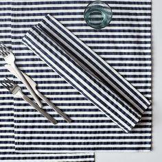 table runner? napkins? I love stripes.