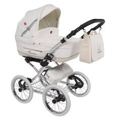 Tutek 3 in 1 kinderwagen Turran 'limited edition snow white' met fleece en lederlook