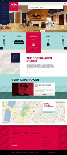 oh, hello, perfection. amazing web design for red bull studios by amsterdam-based Momkai