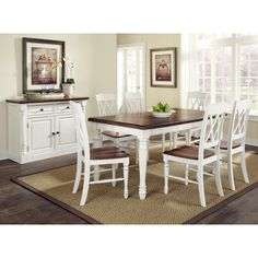 Dining Table and Chairs Set Room Piece Furniture Home Wood Modern Style Dinette