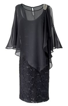 Mother of Bride Groom Wedding Prom evening formal Gown Black cape dress size 16 Mother Of Bride Outfits, Mothers Dresses, Mother Bride, Jacket Dresses Formal, Formal Gowns, Formal Dress, Cheap Gowns, Bride Groom Dress, Bride Dresses