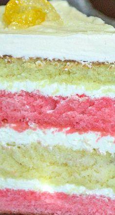Raspberry Lemonade Layer Cake Recipe