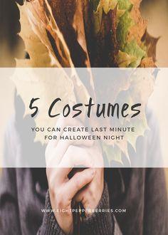 5 Last Minute Halloween Costume Ideas >> Eight Pepperberries blog (scheduled via http://www.tailwindapp.com?utm_source=pinterest&utm_medium=twpin&utm_content=post111747511&utm_campaign=scheduler_attribution)