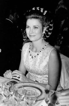 Princess Grace Kelly in Givenchy at the 1970 Rose Ball......Uploaded By www.1stand2ndtimearound.etsy.com