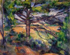 Large Pine and Red Earth, 1895 by Paul Cezanne, Final period. Post-Impressionism. landscape. Hermitage Museum, Saint Petersburg, Russia