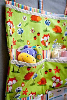 Baby shower gift- handmade crib organiser