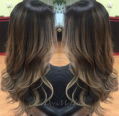 Image result for dark brown with ash brown highlights